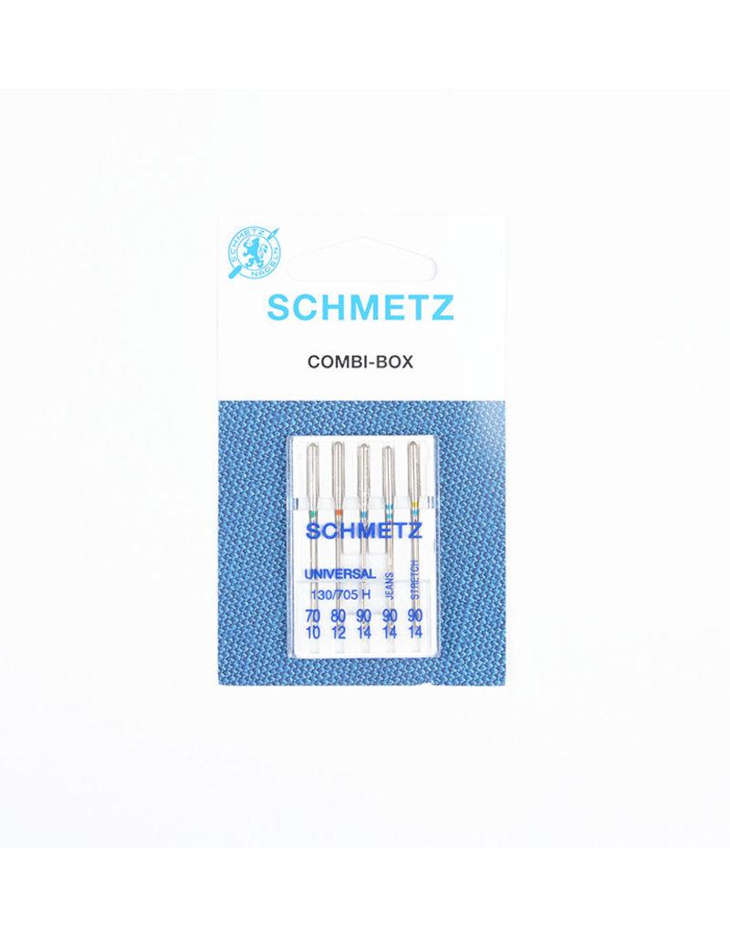 Schmetz Combi-box Universal, jeans, stretch assortment