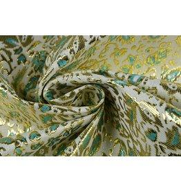 Brocade Sprigs Gold Green