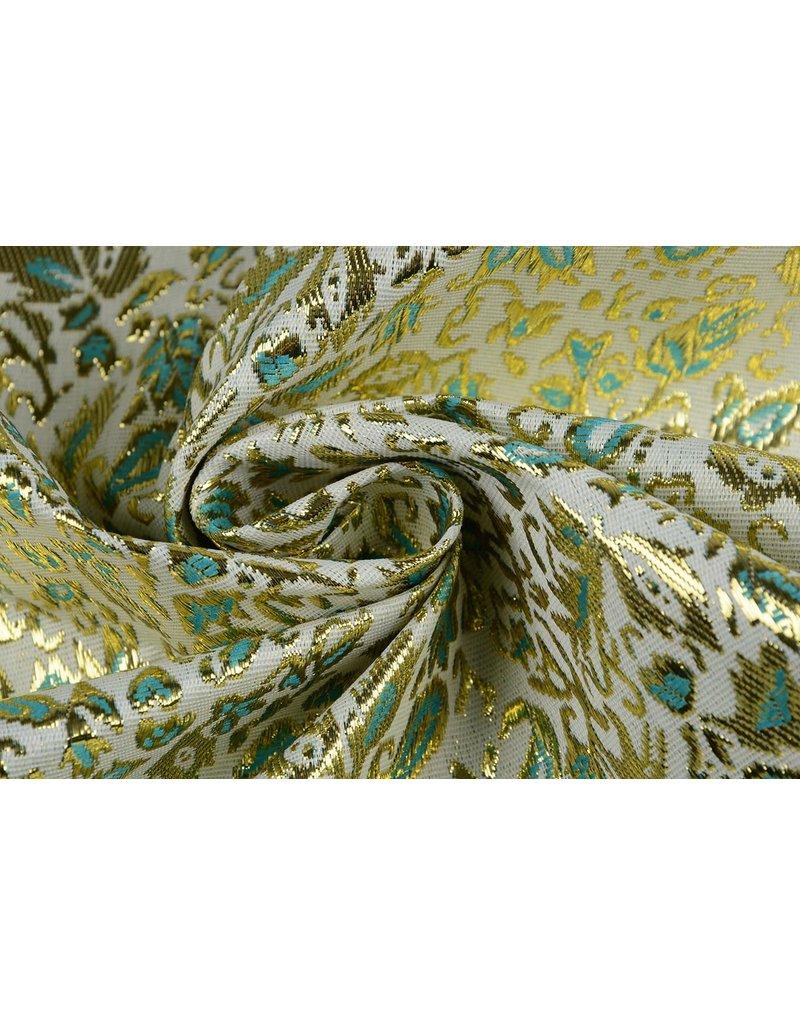 Brokat Zweige Gold Grün