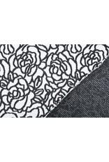 Jacquard gebreid Rozen Zwart Wit