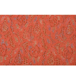 Lace Wolle Multi Bloemetjes Orange