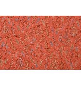 Lace Wool Multi Bloemetjes Orange