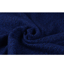 Kant Wol Filetto Kobalt Blauw