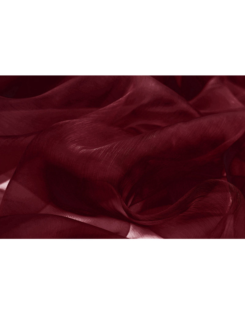 Organza Donker rood