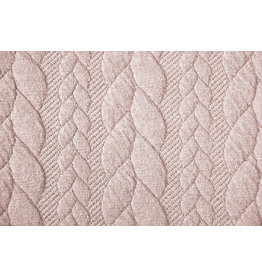 Knitted Cable fabric tricot Powder Pink