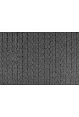 Melange Gebreide kabel stof tricot Grijs