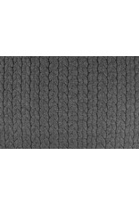 Melange Knitted Cable fabric tricot Grey