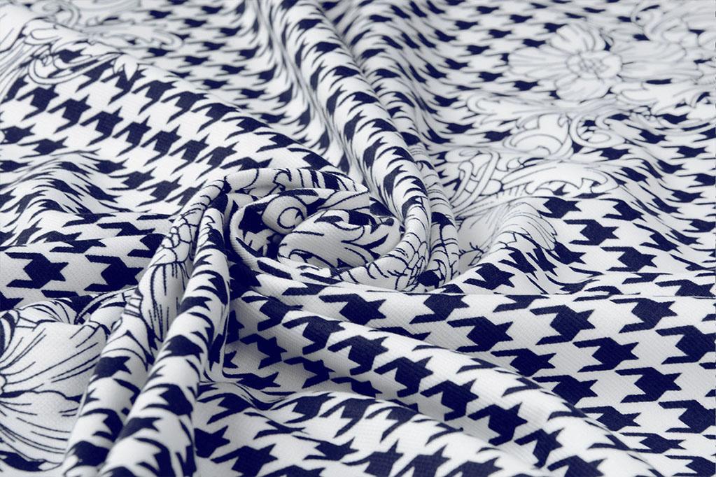 scuba stretch crepe jersey   floral  blue//white