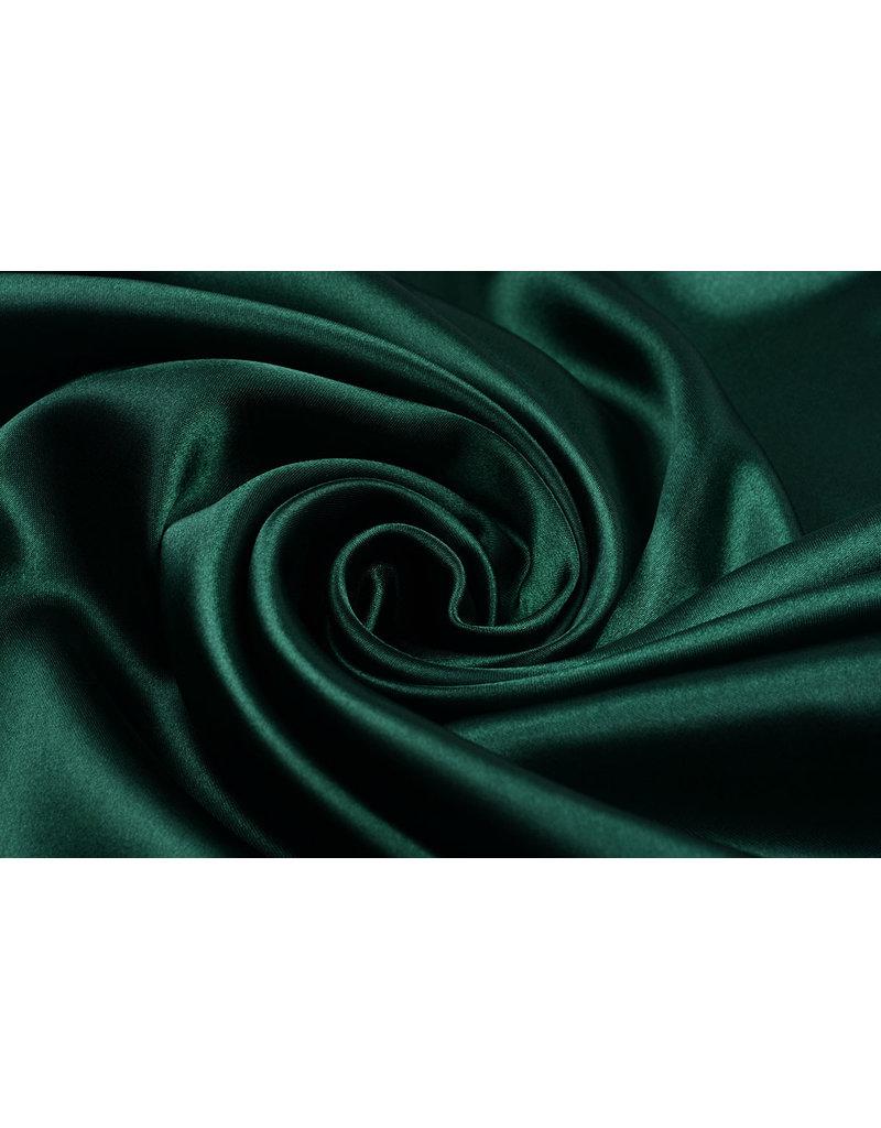 Polyester-Satin Dunkelgrün