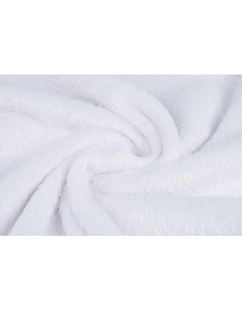 Muishaar fleece Wit