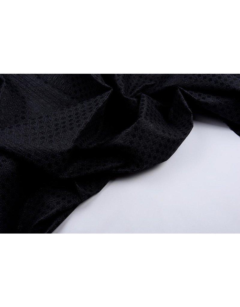 Jacquard Lurex Bengaline Schwarz-Grau