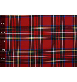 Scottish checks Large stretch Red