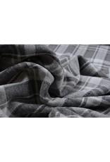 Knitted Checkered Large Berlia Gray White