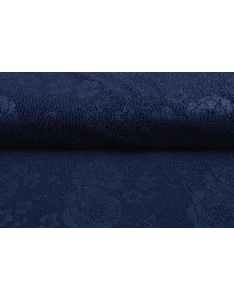 Scuba Emboss Roos Marine Blauw