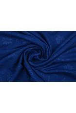 Scuba Emboss Flower Cobalt Blue