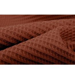 Waffelpiqué Baumwolle Rust Brique