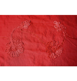 Cotton Corduroy Rib Flower Ribbon Red
