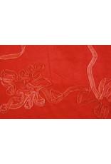 Cotton Corduroy Rib Ribbon Red