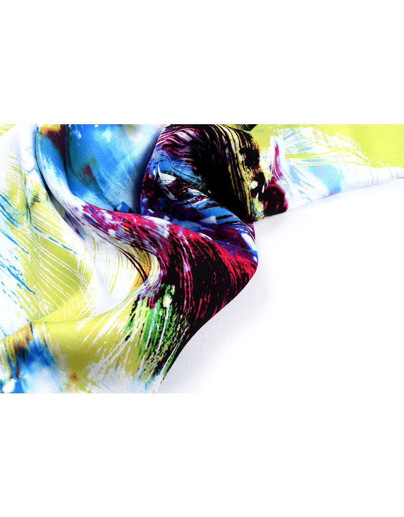 100% Viscose Digitaal Print Arti Lime