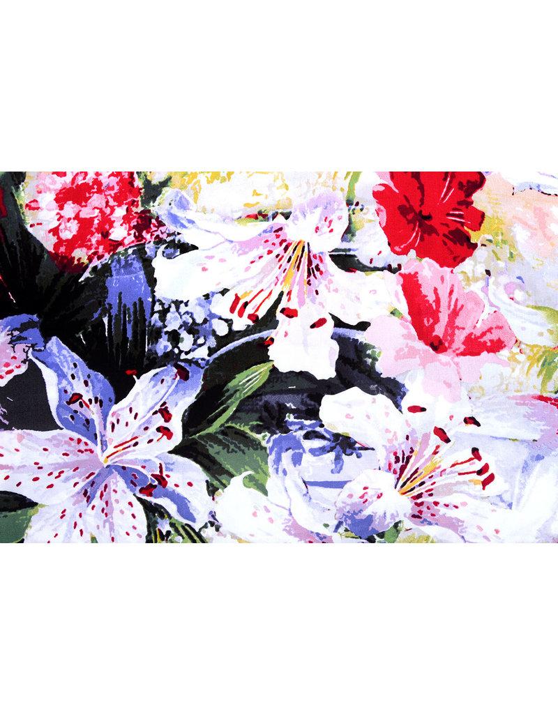 100% Viskose Digital Printed Lily