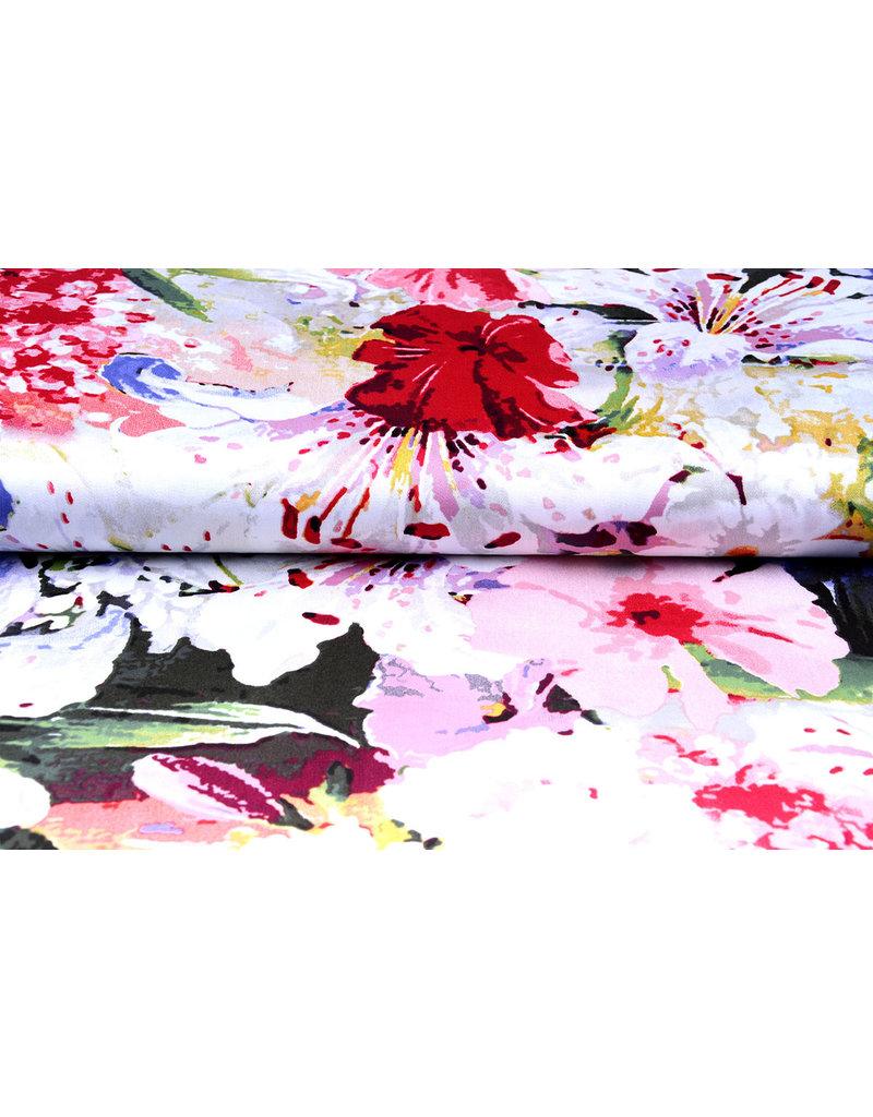100% Viscose Digitaal Print Lily