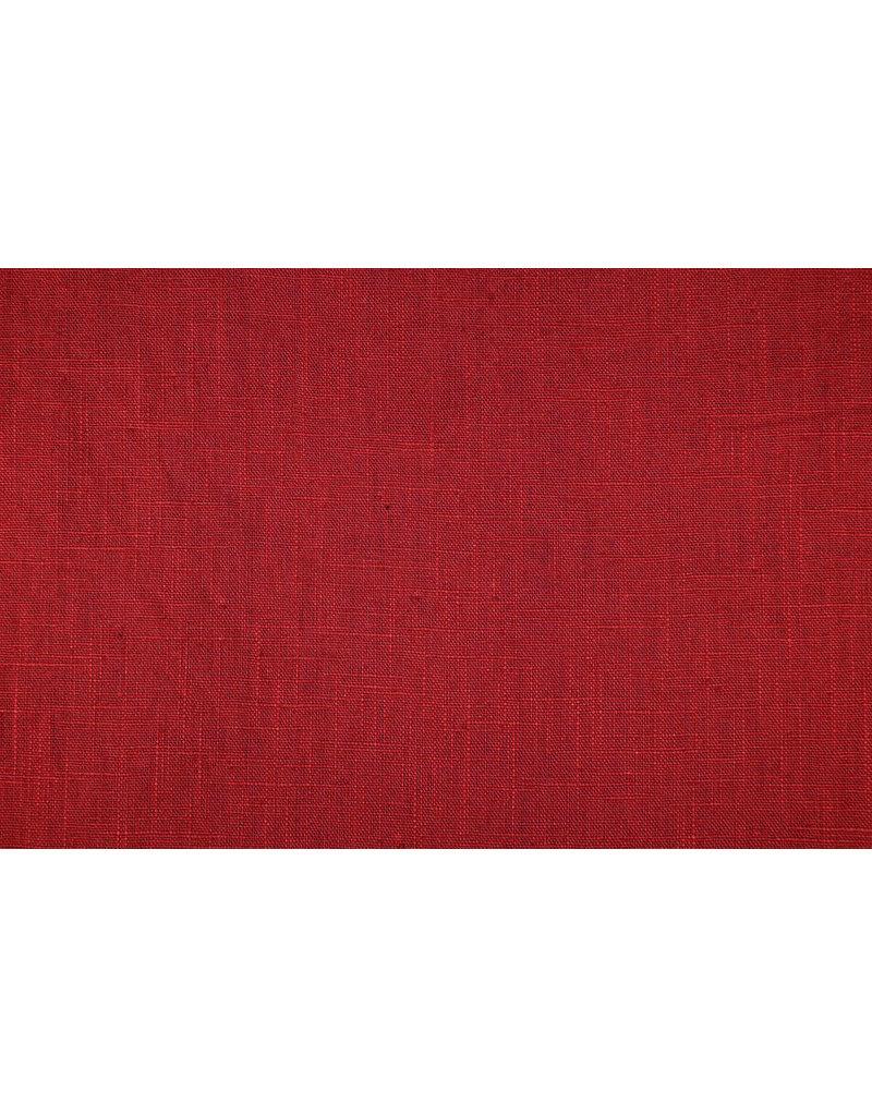 Gewaschenes Leinen Rot