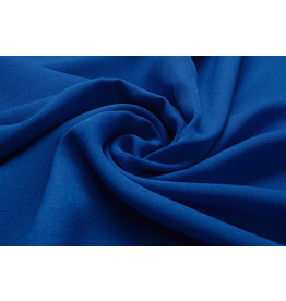 Stretch Crepe Satijn 2 Sides Kobaltblauw