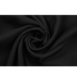 Stretch Crepe Satin 2 Sides Black