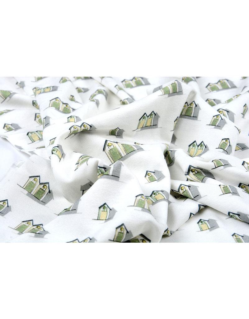 Cotton Jersey vakantiehuisjes Groen