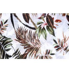 Tricot Botanic Jungle Weiß