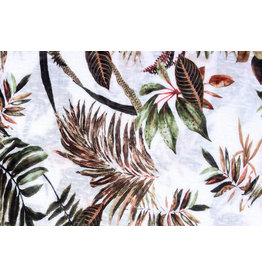 Tricot Botanic Jungle White