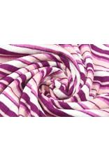 Baumwolljersey Multi Streifen altes Rosa