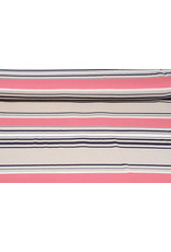 Viscose Jersey Stripes Coral Pink