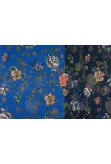 Lycra Trikot Simmer Flowery Zweifarbiges Blau