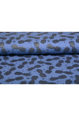 Mi & Joe Cotton Jersey Ananas Glitter Donker jeans melange