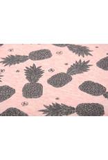 Mi & Joe Cotton Jersey Ananas Glitter Koraal melange