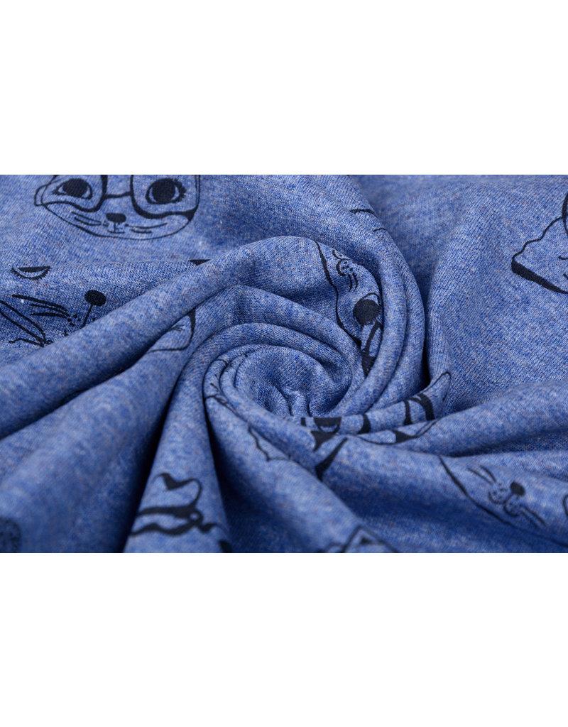 Mi & Joe Cotton Jersey Poes Donker jeans melange