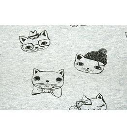 Mi & Joe Baumwolljersey Katze Altgrün Melange