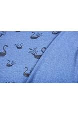 Mi & Joe Cotton Jersey Zwaan Glitter Donker jeans melange