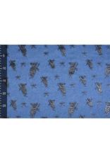 Mi & Joe Cotton Jersey Koala Glitter Donker jeans melange