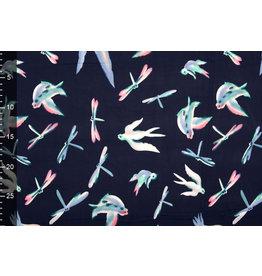 Lycra jersey Simmer Dragonfly Bird Navy