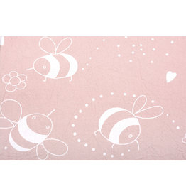 100% Cotton Washed Bee Powder Pink