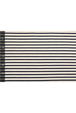 Cotton Jersey Large Stripe Creme Navy
