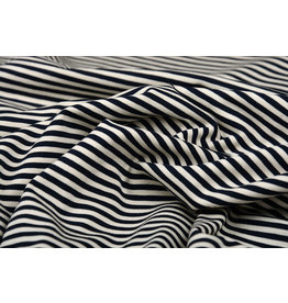 Cotton Jersey middle Stripe Navy Creme