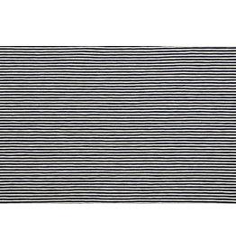 Cotton Jersey Small Stripe Navy Creme
