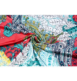 Lycra tricot Simmer Oriental Rood Mint