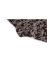 Cotton Jersey Blätter Ivy Dunkel Braun