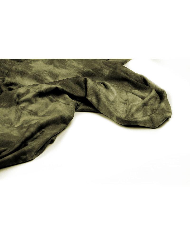 Viscose jersey Tie Dye Grün