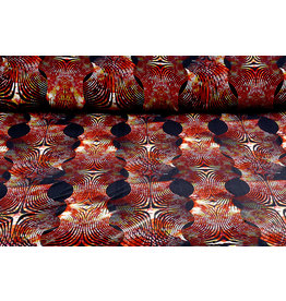 Lycra tricot Simmer Zebra Ori Rood