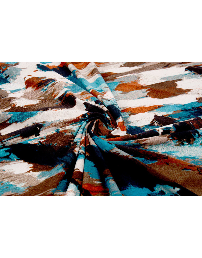 Cotton Jersey Simmer Abstract multi